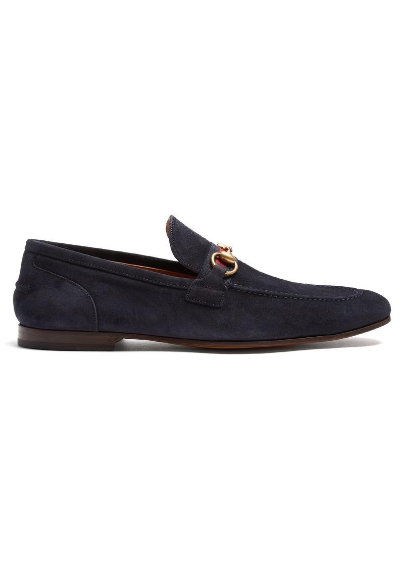 9a30f644790 Gucci Gucci Horsebit suede loafers