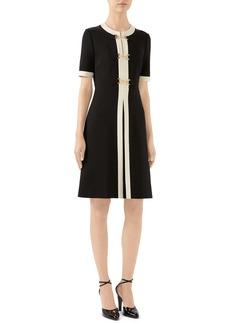 Gucci Horsebit Toggle Stretch Jersey A-Line Dress