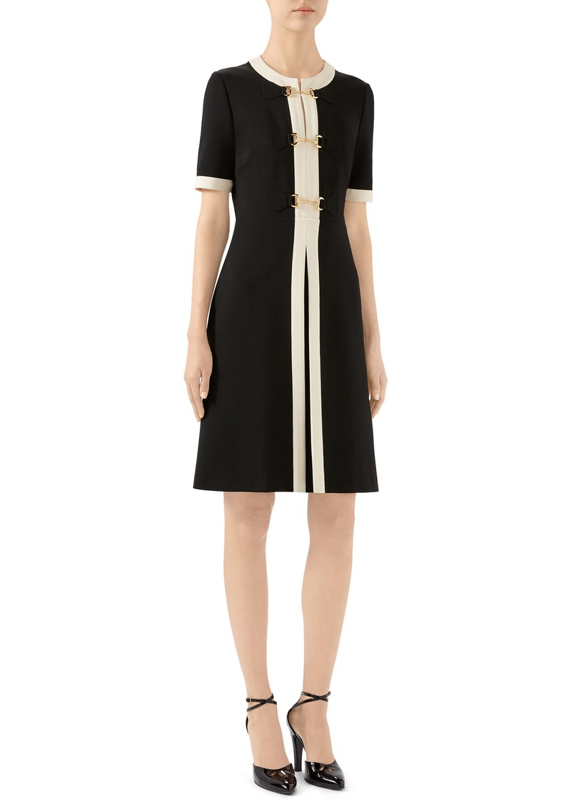 Gucci Horsebit Toggle Stretch Jersey A-Line Dress