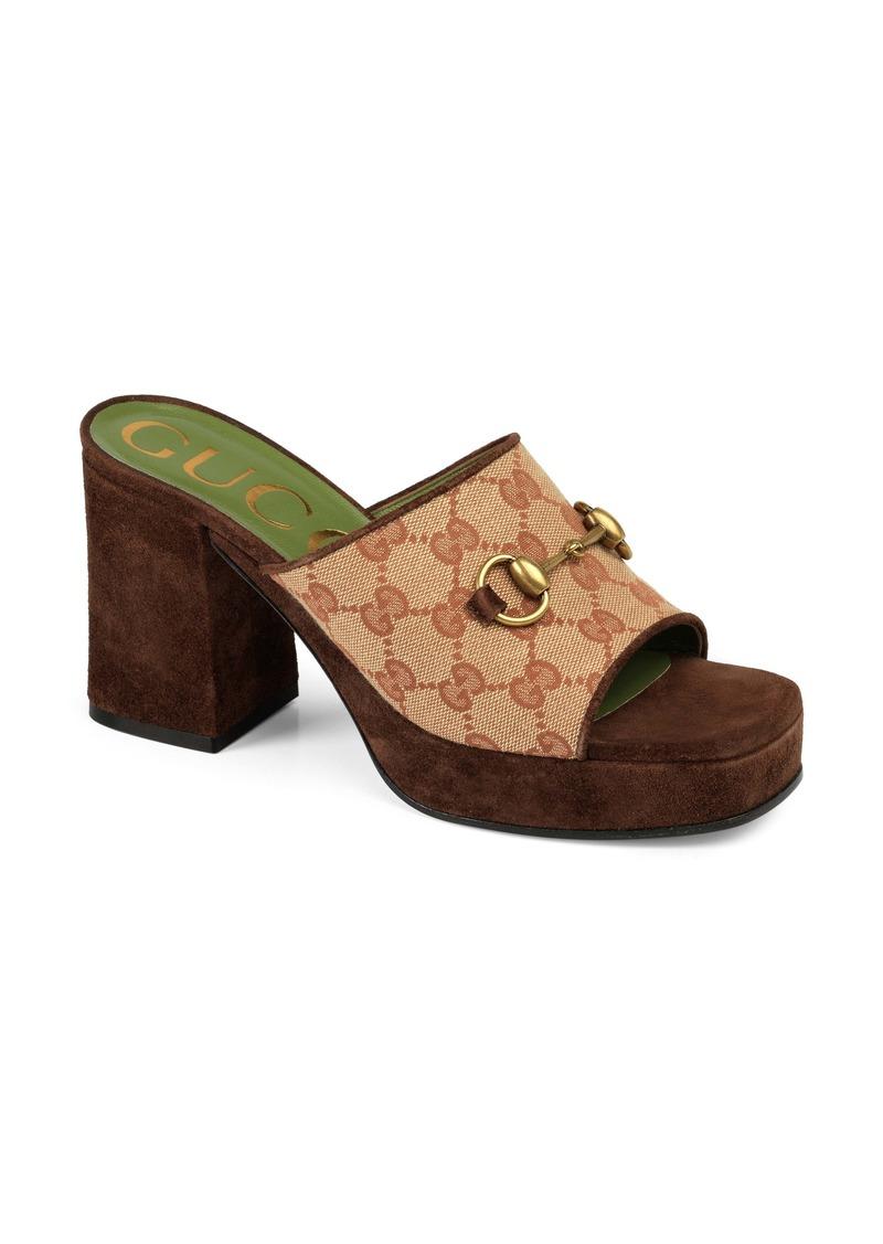 Gucci Houdan Original GG Platform Slide Sandal (Women)