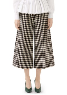 Gucci Houndstooth Wool & Cotton Culottes