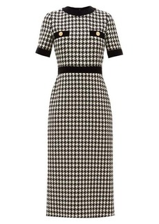 Gucci Houndstooth wool-blend dress
