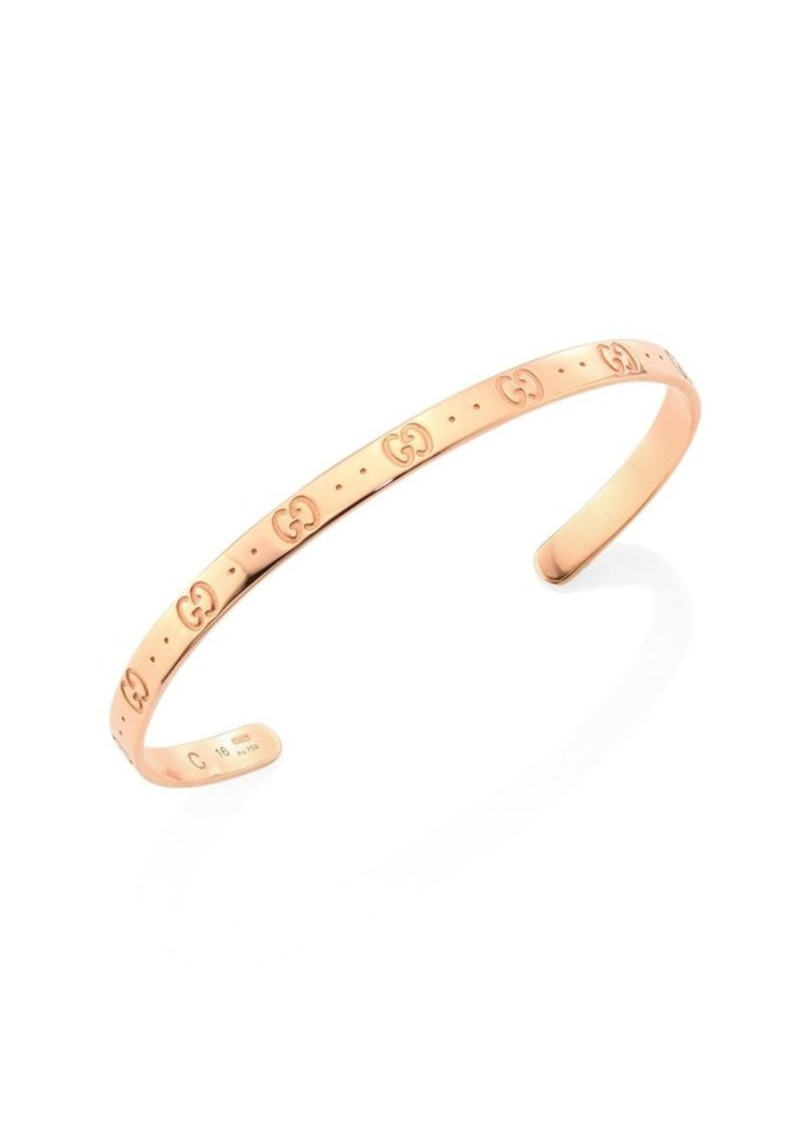 Gucci Icon 18k Rose Gold Bangle Bracelet