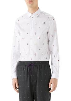 Gucci Iconic Elements Fil Coupé Sport Shirt