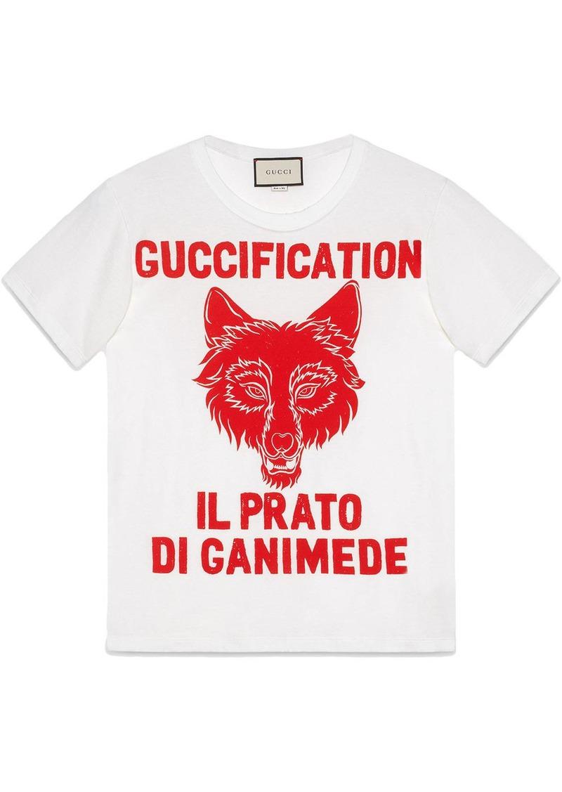 """""""Il Prato di Ganimede Guccification"""" print T-shirt"""