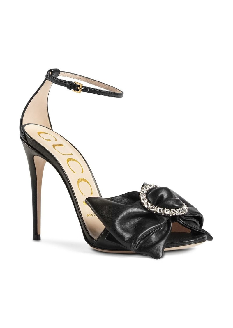Gucci Ilse Bow High-Heel Sandals