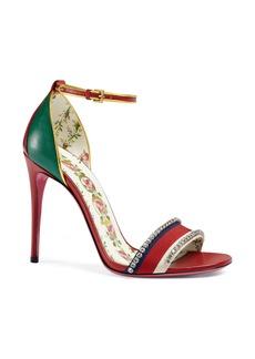Gucci Ilse Crystal Embellished Ankle Strap Sandal (Women)