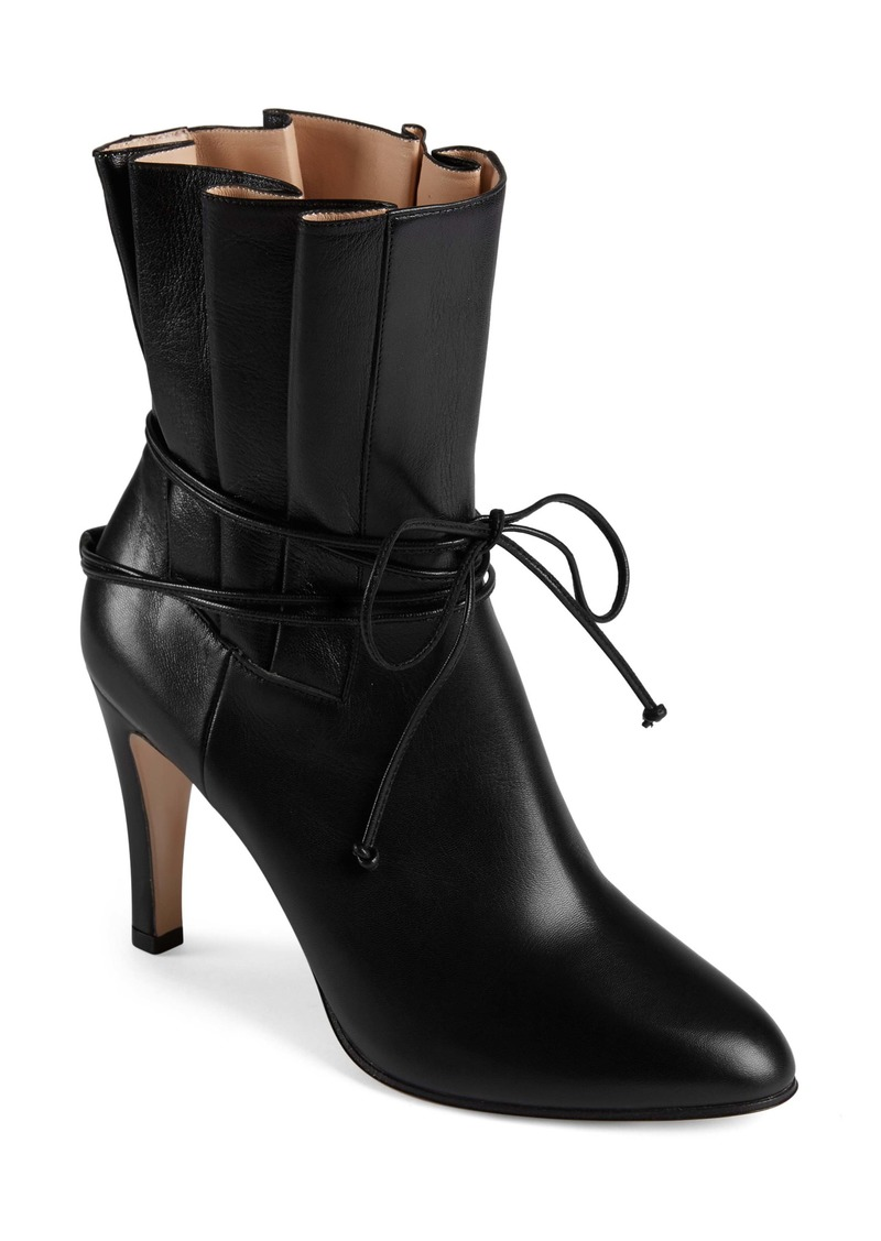 Gucci Indya Pleated Bow Tie Bootie (Women)