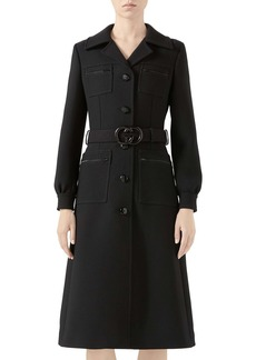 Gucci Interlocking-G Belt Wool Coat