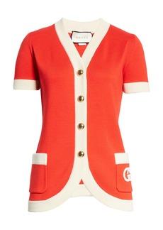 Gucci Interlocking-G Logo Wool Cardigan