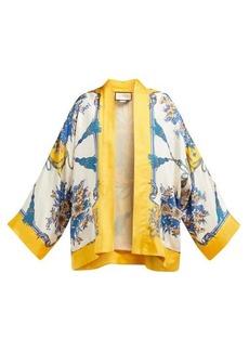 Gucci Intrigue-print silk kimono-style jacket