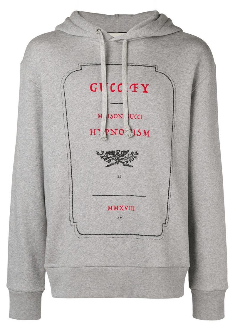 dd9e36eeea8 Gucci Gucci Invitation Graphic print hoodie - Grey