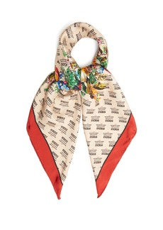 Gucci Invite and flowers-print silk-twill scarf