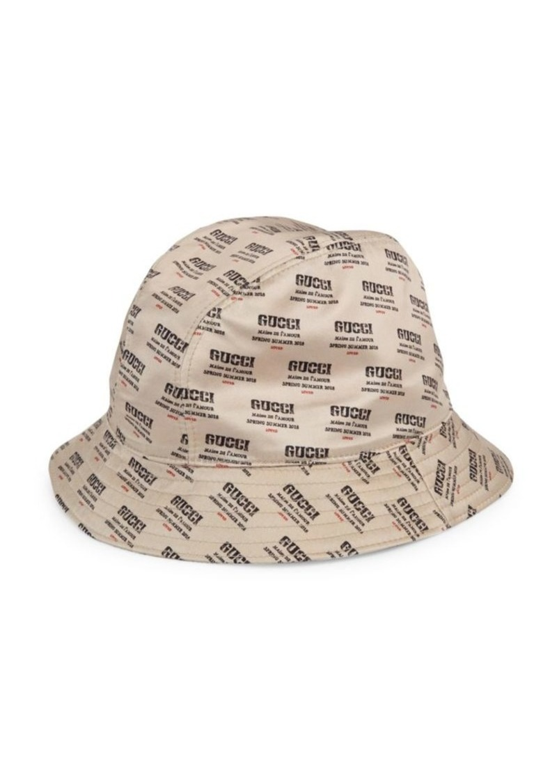 Gucci Invite Print Silk Bucket Hat  a980d75dbc2