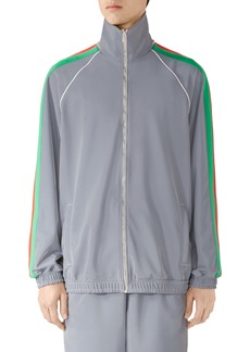 Gucci Iridescent Stretch Nylon Track Jacket