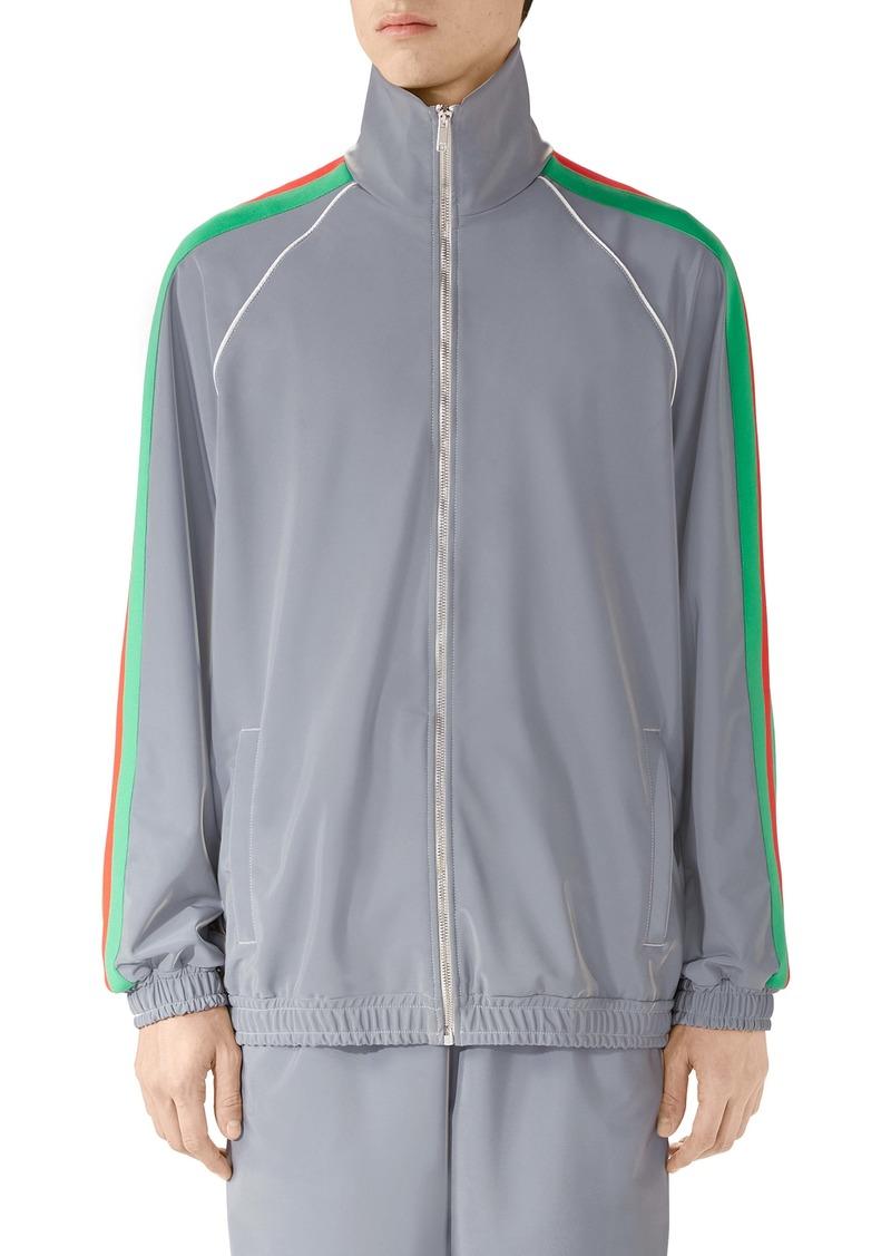Gucci Iridescent Stretch Nylon Track Jacket
