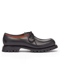 Gucci Jasper Web-stripe leather Derby shoes