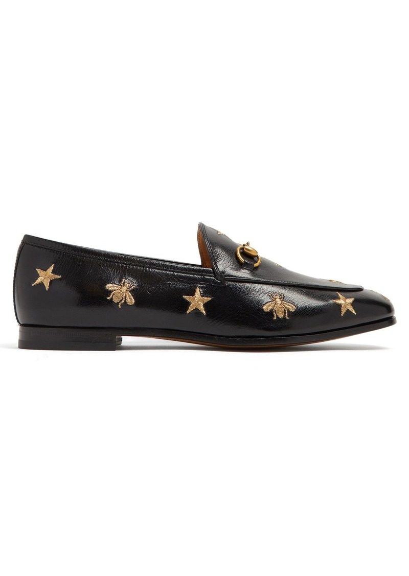 b3b0462f2 Gucci Gucci Jordaan embroidered leather loafers | Shoes