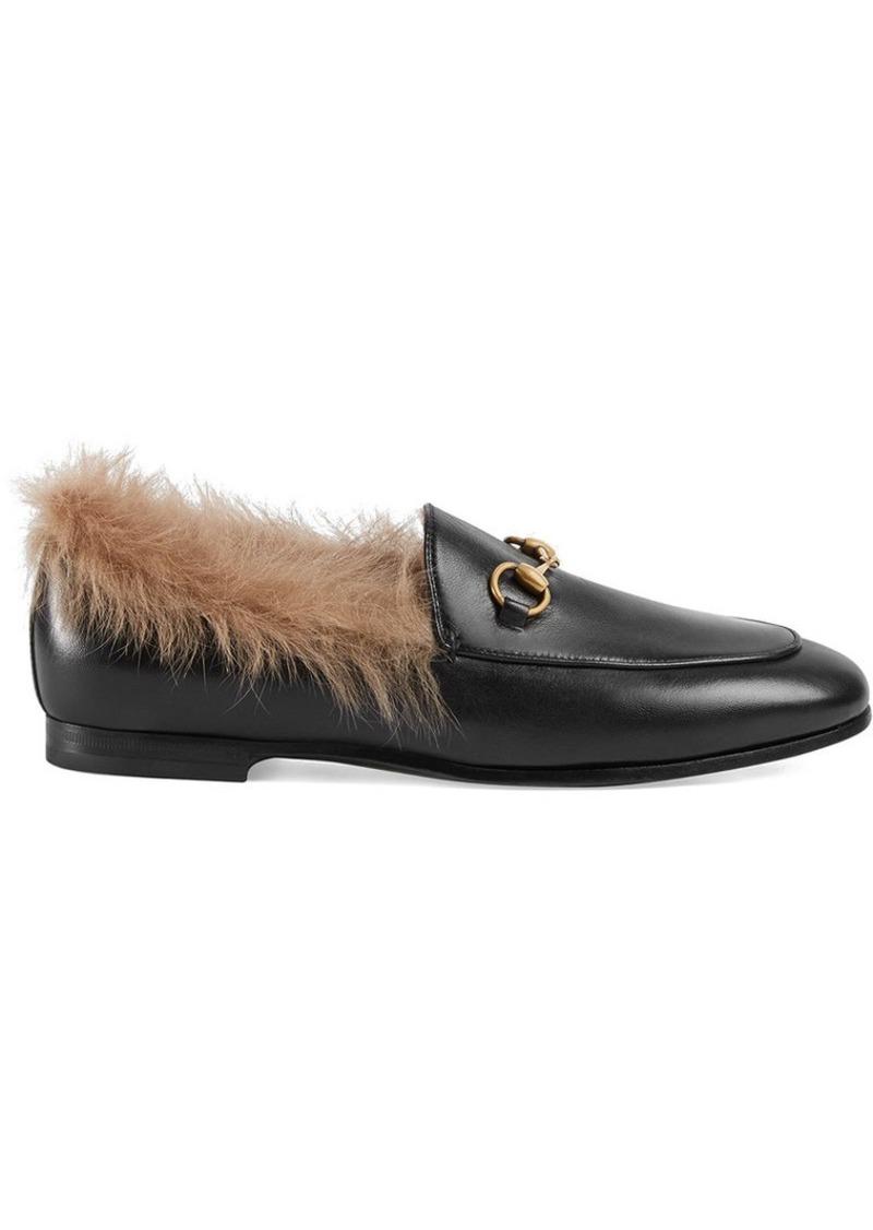 cf4aa65dab8e Gucci Gucci Jordaan fur loafer
