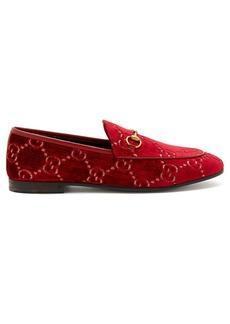 Gucci Jordaan logo-jacquard velvet loafers