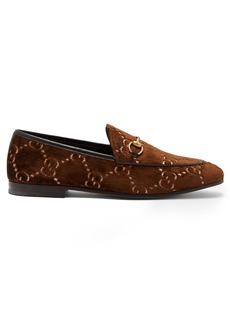 6e4a9b8d5081 Gucci Jordaan logo-jacquard velvet loafers