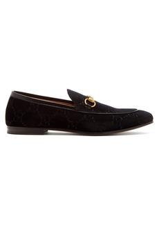 Gucci Jordaan velvet loafers