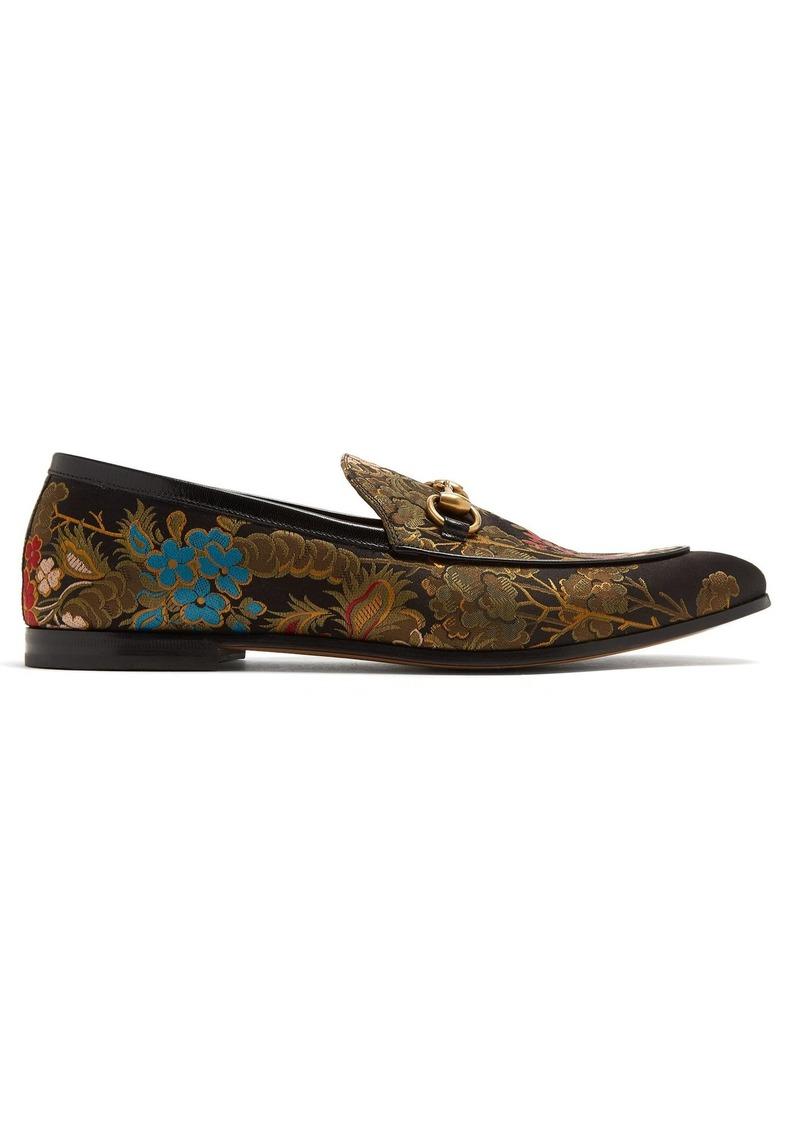 d12f86fdac6 Gucci Gucci Jordan floral-jacquard loafers