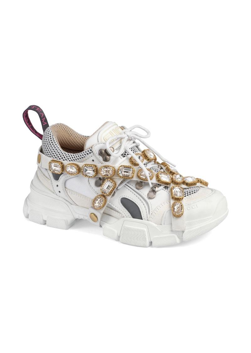 3ac2b684d45 Gucci Gucci Flashtrek Jewel Embellished Sneaker (Women)