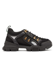 Gucci Journey Trek panelled leather and mesh trainers