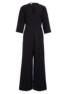 Gucci Keyhole Wool & Silk Crepe Cady Crop Jumpsuit