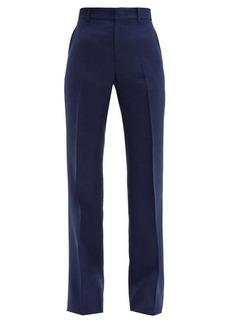 Gucci Kick-flare slub-twill trousers