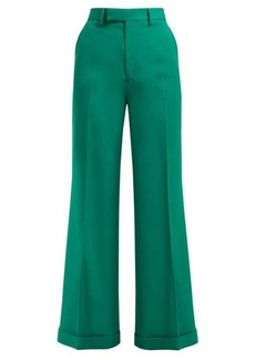 Gucci Kick-flared wool trousers