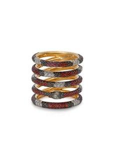 Gucci Kingsnake 18kt gold, diamond & topaz ring