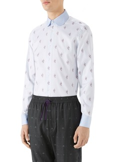 Gucci Kingsnake Fil Coupé Sport Shirt