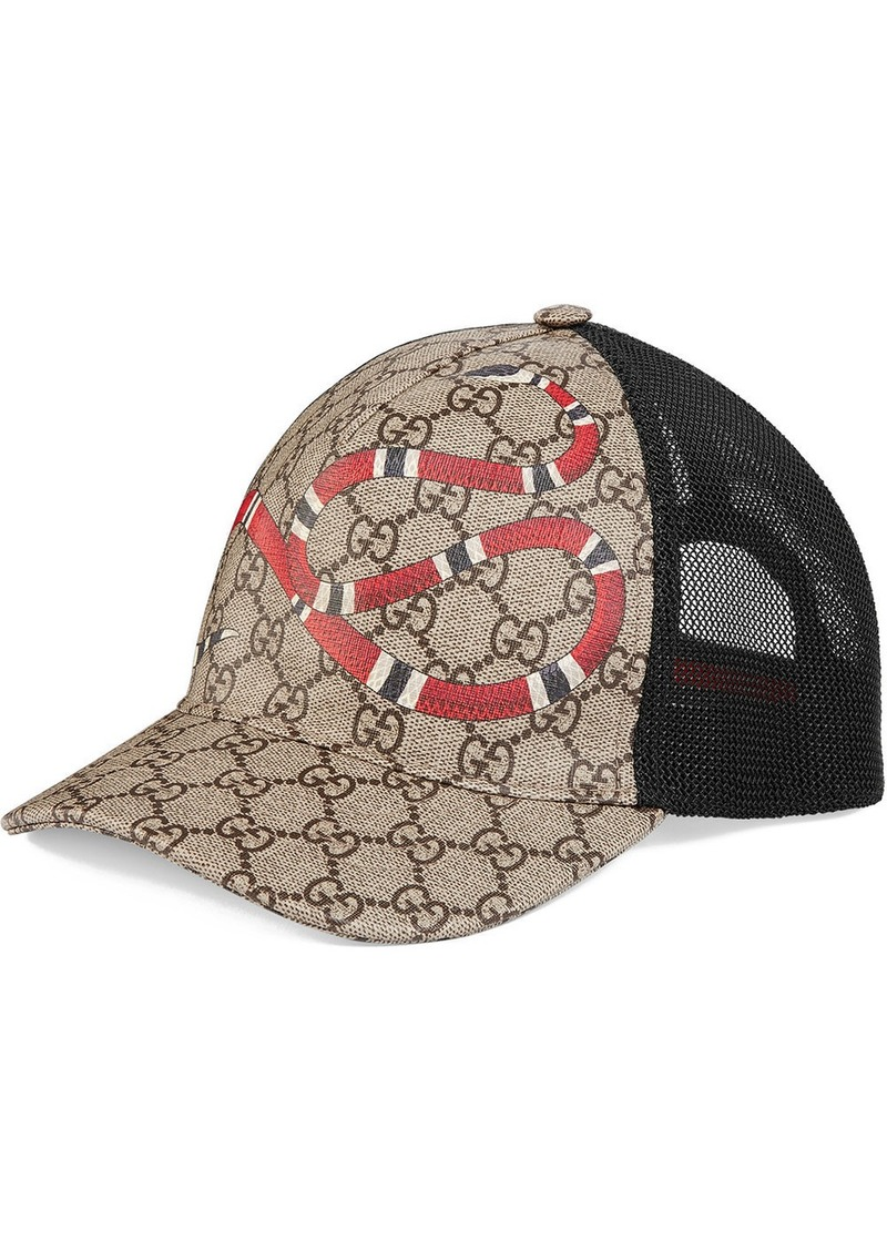 Gucci Kingsnake GG Supreme cap