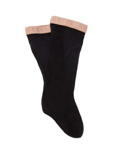 Gucci Knee-high logo-jacquard socks