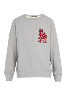 Gucci LA Angels-appliquéd cotton sweatshirt