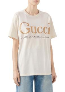 Gucci La Saison Glitter Logo Cotton Tee