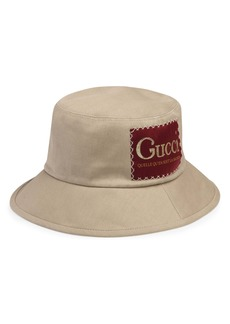 Gucci La Saison Logo Label Drill Bucket Hat
