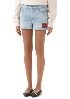 Gucci Label Denim Shorts