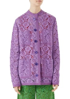 Gucci Lace Easy Jacket