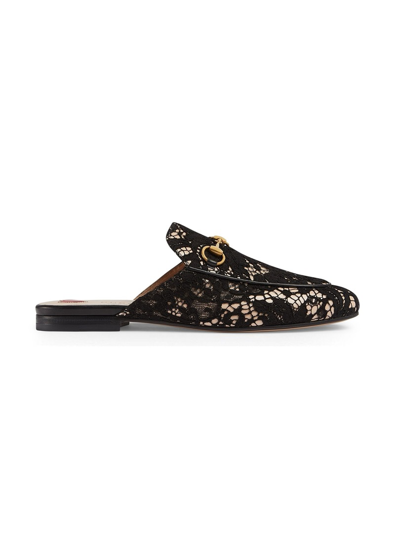 61dbcc07285 Gucci Gucci Lace Princetown Loafer Mule (Women)
