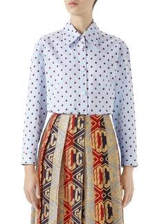 Gucci Ladybug Print Poplin Shirt