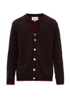 Gucci Lamb-intarsia wool cardigan