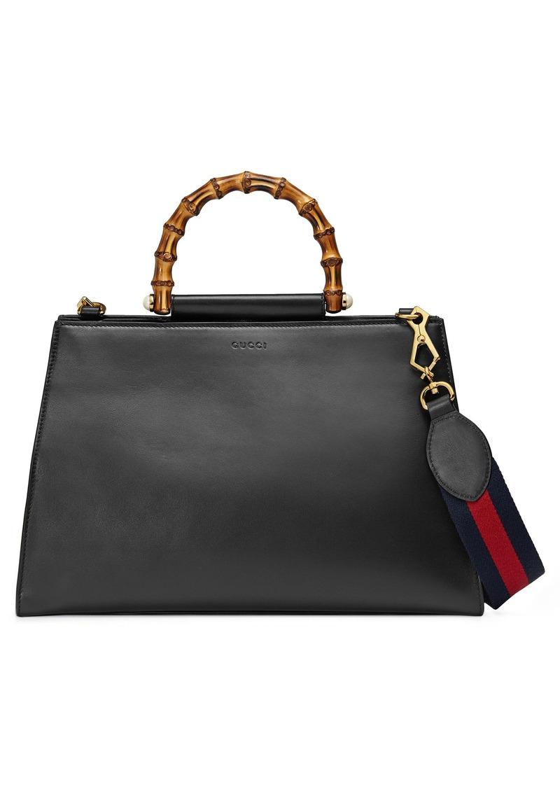 fffa3235d8e Gucci Gucci Large Nymphea Bicolor Leather Top Handle Satchel