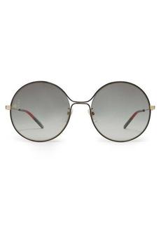 Gucci Lasered-logo round metal sunglasses
