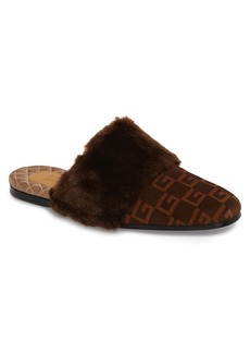 Gucci Square-G Faux Fur Slipper (Men)