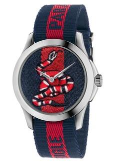 Gucci Le Marché Des Merveilles Nylon Strap Watch, 45mm