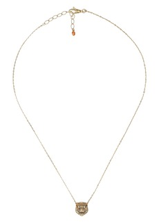 Gucci Le Marche Feline Head Pendant Necklace