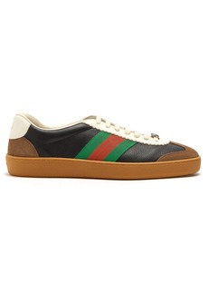 Gucci Leather and suede Web trainers